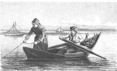 Fisker og kone