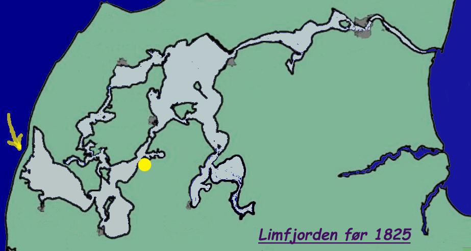 Kort 1-1 Limfjorden før 1825a