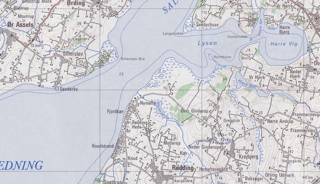 Krejbjerg-NyMølle - kort
